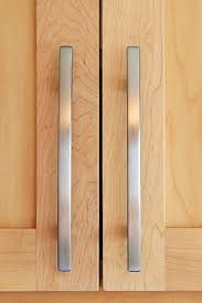 Cabinet Door Handles Brushed Silver Door Handles On Maple Cabinet Doors Kitchen