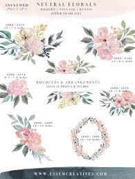neutral watercolor flowers clipart floral borders u0026 frames for