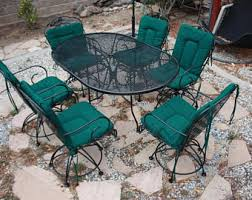 Wrought Iron Patio Table And Chairs Vintage Wrought Iron Patio Set Circa 1950 U0027s Table With 4