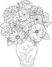 75 enchanting flower vase coloring page pages flower vase coloring