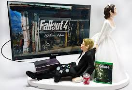 gamer wedding cake topper fallout wedding cake topper gamer and groom xbox one