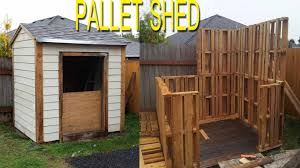 How To Make A Storage Shed Plans shed built with free pallets check link in description for more