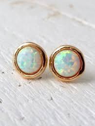 opal stud earrings blue peruvian opal stud earrings 6mm blue opal