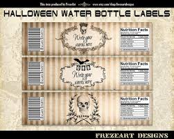 halloween printable water bottle labels u2013 fun for christmas