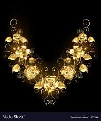 golden roses symmetrical pattern of golden roses royalty free vector