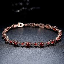 luxury chain bracelet images 6 colors luxury rose gold plated chain bracelet for women ladies JPG