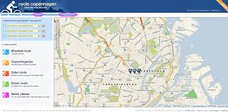 online bicycling map and route planner copenhagen and denmark