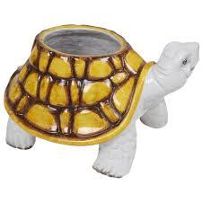 animal planter ceramic turtle planter swi vintage
