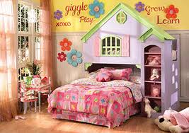girls bed crown princess theme bedroom barbie house games princess wall art