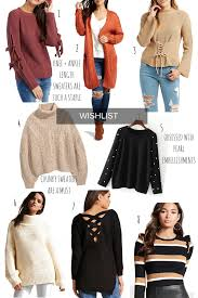 graciela trendy sweater wishlist