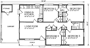 4 bedroom ranch floor plans house plan 45275 at familyhomeplans com