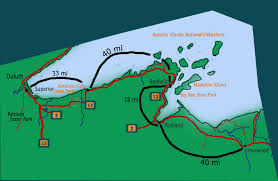 mileage map road mileage maps lake superior circle tour