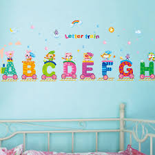 Letter Wall Decals For Nursery Letters A To H Rainbow Wall Decal Home Sticker