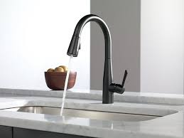 kitchen gooseneck faucet with sprayer delta one touch faucet