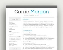 ms word resume etsy