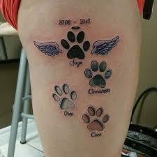 looking for a paw print tattoo tattoos beautiful