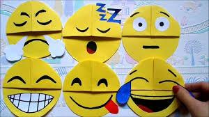 easy paper craft diy emoji bookmark corners easy back to