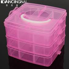 aliexpress com buy new 3 layer plastic clear nail art storage