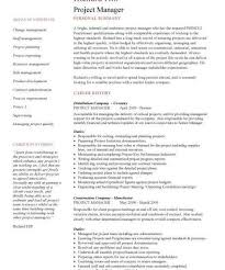 project manager resume templates it project manager resume