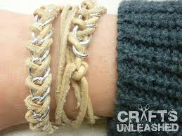 braided leather chain bracelet images Easy diy leather and chain quot braid quot wrap bracelet jpg