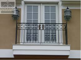 add a touch of tradition with a custom wrought iron balcony railing