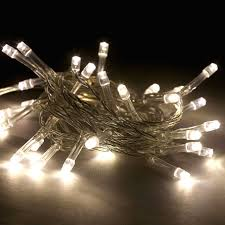 battery operated led light strands with 60 cool white led string