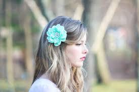 flower for hair seafoam flower hair clip mint green hair clip something blue