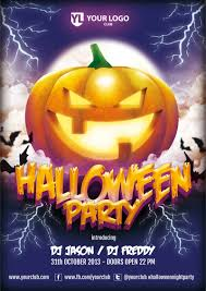 free halloween party flyer templates halloween vector background banners pumpkin head zombie hand 8