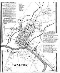County Map Of Ny Town Of Walton Index To Materials For Town Of Walton Delaware