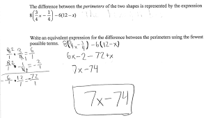 equivalent perimeters students are asked to solve a geometric