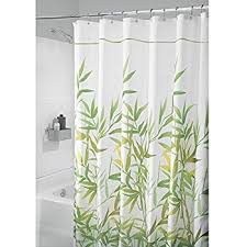 Narrow Shower Curtains For Stalls Amazon Com Interdesign Leaves Fabric Shower Curtain Stall 54