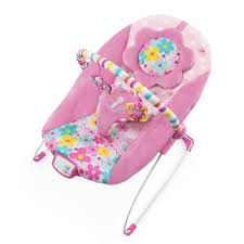 baby bouncer seat chair pink portable butterfly cutout print