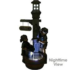 Water Faucet Night Light Sunnydaze Children Playing With Water Faucet Outdoor Garden