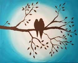 birds on branch original painting just paint it