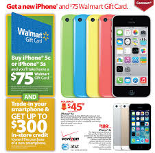 black friday deals on gift cards walmart black friday 2013 ad includes incredible iphone 5s deal
