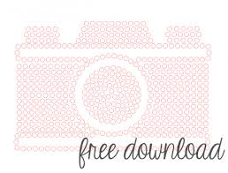 free rhinestone camera silhouette template a tutorial showing