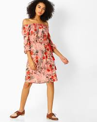 model dress buy pink 109 f floral print shoulder dress trends