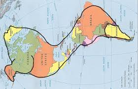 Map Of North And South America by Animal Contours U2013 Map Of America The Kaleidoscopic Kanvas