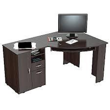 inval computer desk with hutch inval corner computer desk espresso wengue by office depot officemax