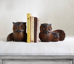 owl book ends design gift for book lovers id640 home decor gifts