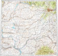 Spokane Map Download Topographic Map In Area Of Spokane Kennewick