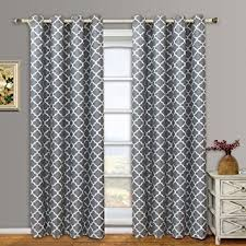 Hotel Room Darkening Curtains Meridian Gray Grommet Room Darkening Window Curtain