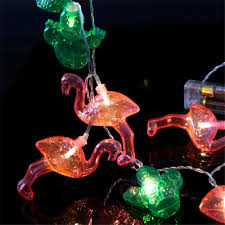popular flamingo and cactus led string lights for kids baby
