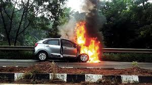 volkswagen fire new maruti baleno catches fire none hurt not a good week for the