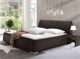 Schlafzimmer Mit Polsterbett Kunstlederbett Mit Bettkasten Und Lattenrost Lewdown