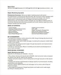 Marketing Achievements Resume Examples by Digital Marketing Specialist Resume Marketing Resume Samples For