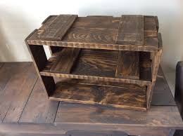 solid reclaimed wood crates