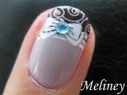 konad french tip stamping nail art princess bow nails pretty