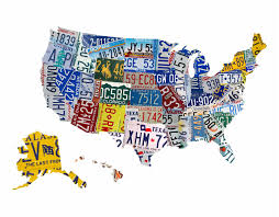 Map Fabric Usa License Plate Map Fabric Decal Bluedesigndecals Com Blue