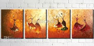 decorative artwork for homes abstract dancing lady portrait oil painting on canvas handmade home